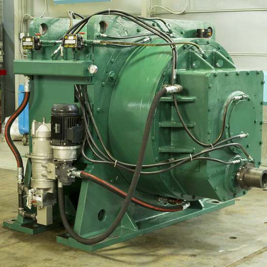 A green-colored, sugar mill gearbox.