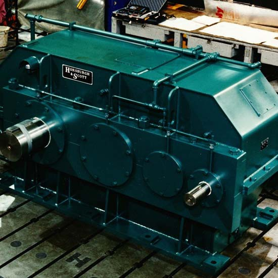 A large gearbox for rubber processing applications.