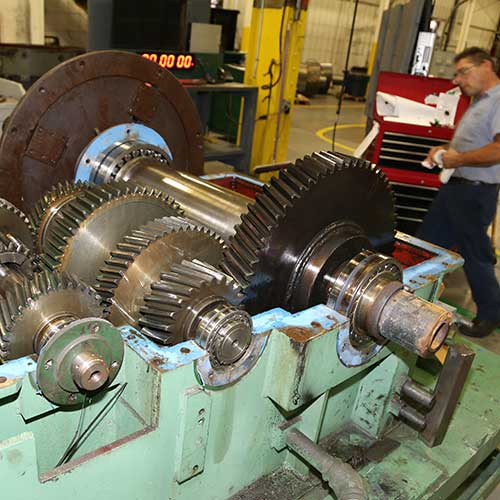 An open gearbox in Horsburgh & Scott's rebuild/repair facility in Cleveland, OH.